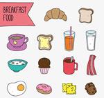早餐食物矢量
