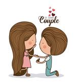 求婚卡通形象