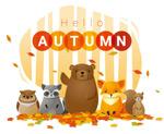 秋季可爱卡通海报