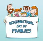 国际家庭日合影