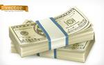 捆扎的美金货币