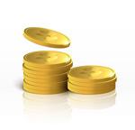 叠放的金币