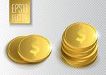 金色美金硬币