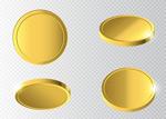 不同形态的金币