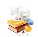 书本上的厨师帽