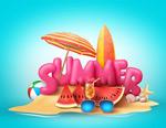 夏日海岛度假海报