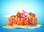 夏日海岛旅游海报