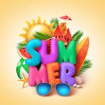暑期旅行海报