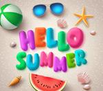 夏季海洋元素海报