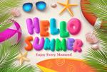 夏季海滩旅行海报