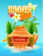 海滩酒吧海报