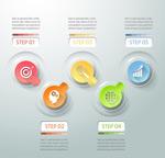 彩色ppt信息图表