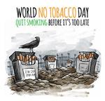 世界无烟日插画