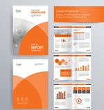 橙色图形边框画册