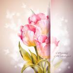 粉红色鲜花底纹