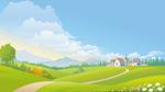 天空和青草地