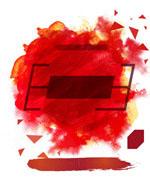 红色水墨背景图