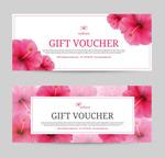 花朵礼品券卡片