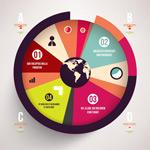 圆形信息图表