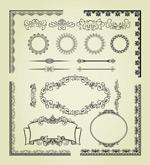 欧式复古花纹边框