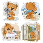 彩绘泰迪熊