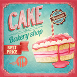 蛋糕面包店海报