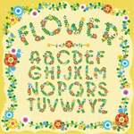 花卉植物字母