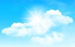 阳光和白云矢量