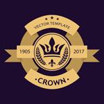 王冠标志标签