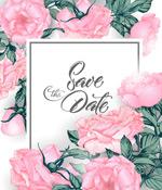 玫瑰花朵边框