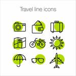 旅行细线图标