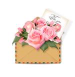 玫瑰花和卡片