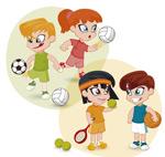 体育运动的儿童