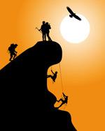 攀岩爱好者矢量