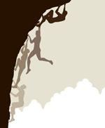 攀岩人物剪影