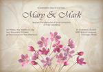 婚礼装饰花卉卡片