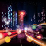 城市霓虹灯矢量