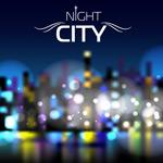 城市闪烁霓虹灯