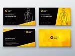 黑黄色企业名片