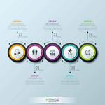 圆形排列信息图表