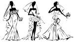 手绘婚纱新娘