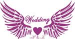 翅膀婚礼邀请卡