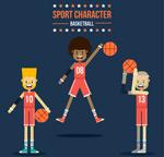 篮球运动员矢量