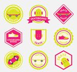 彩色滑板徽章