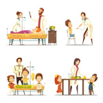 儿童和医生卡通