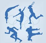 奥运体育人物剪影
