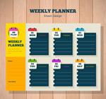 彩色一周计划表