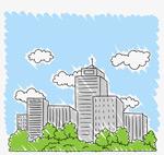 城市蓝天楼群建筑