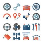 汽车修理工具图标