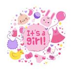 女孩迎婴元素